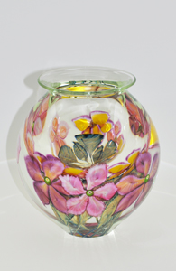 David Lotton -Clematis Paperweight Vase